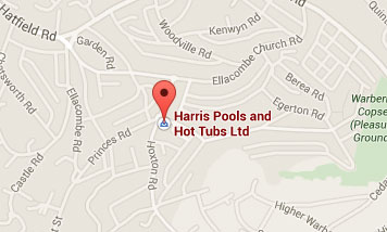 Map to Harris Pools & Leisure