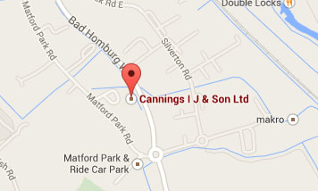 Map to IJ Cannings & Son