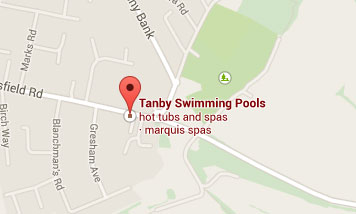 Map to Tanby Swimming Pools
